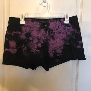Lovesick Purple & Black Marble Short Shorts - Size